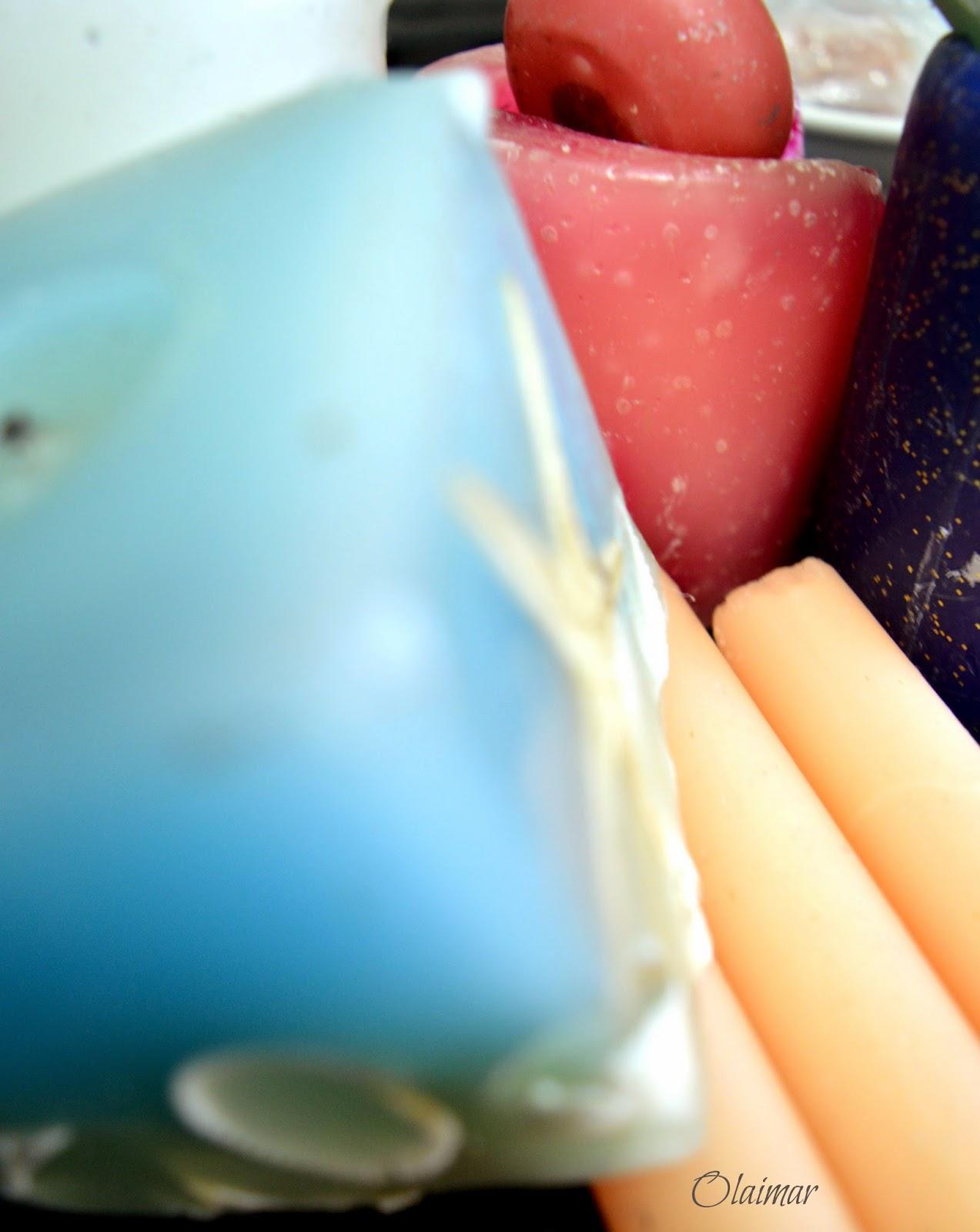 velas de colores