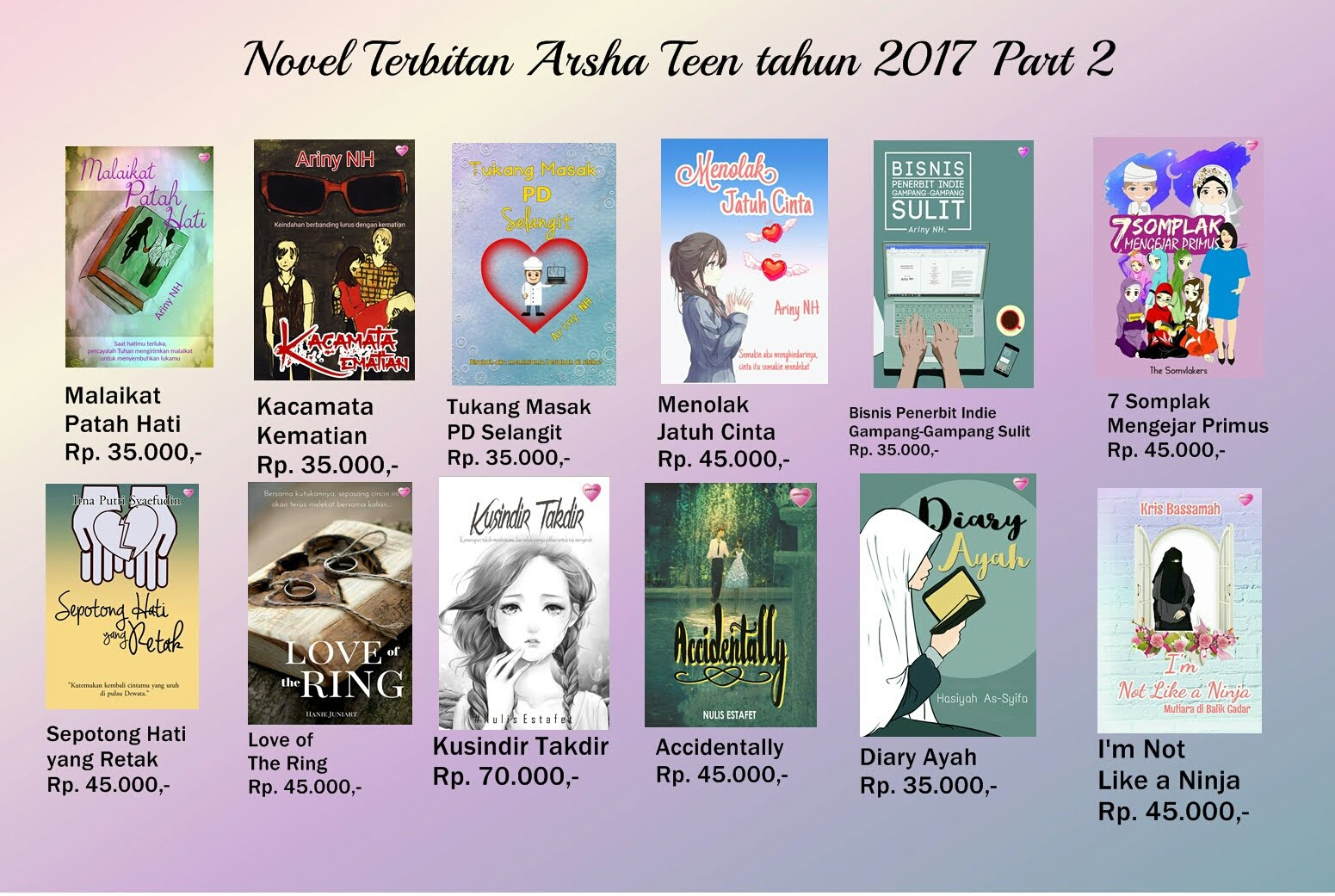 Novel Terbitan Arsha Teen Part II