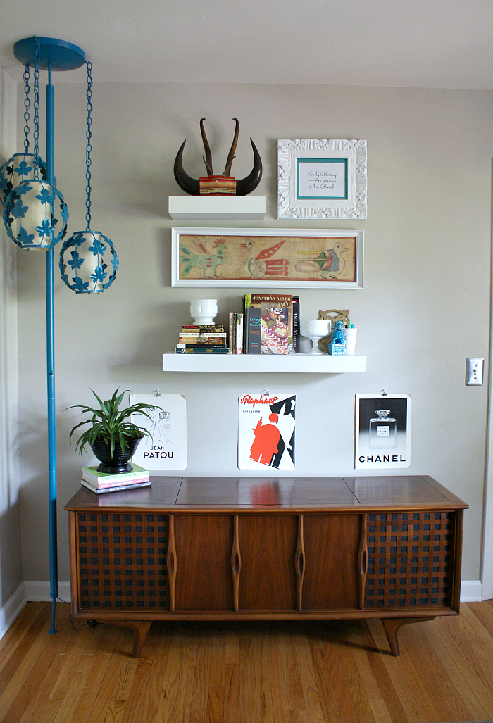 DIY Vintage Modern Eclectic Home Office