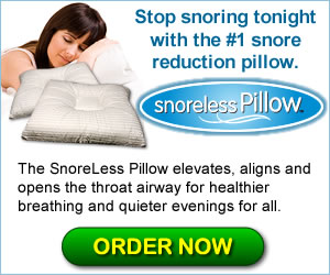 Enhance your sleep tonight with the #1 snore reduction pillow.