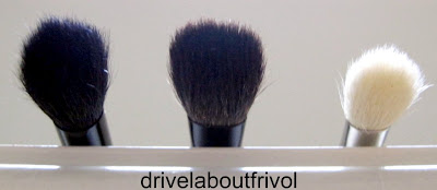 brush comparison Edward Bess Luxury Eye Brush, Suqqu Eyeshadow L, MAC 217
