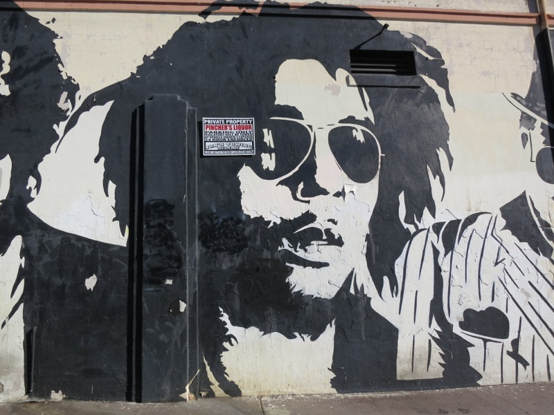 Melroseandfairfax old school mr brainwash mural still riding for Bob marley mural
