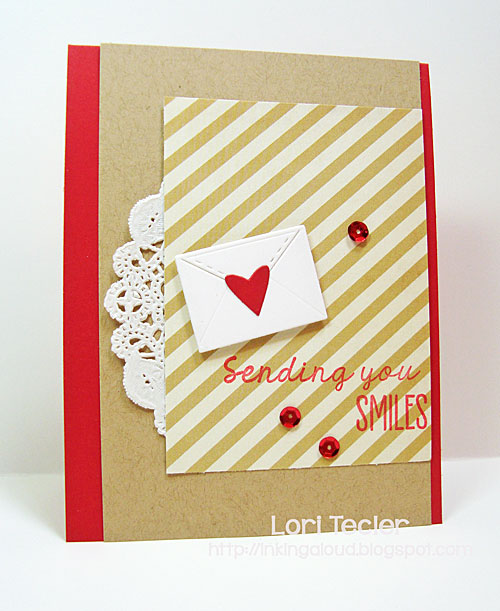 Sending You Smiles card-designed by Lori Tecler/Inking Aloud-stamps and dies from Lil' Inker Designs