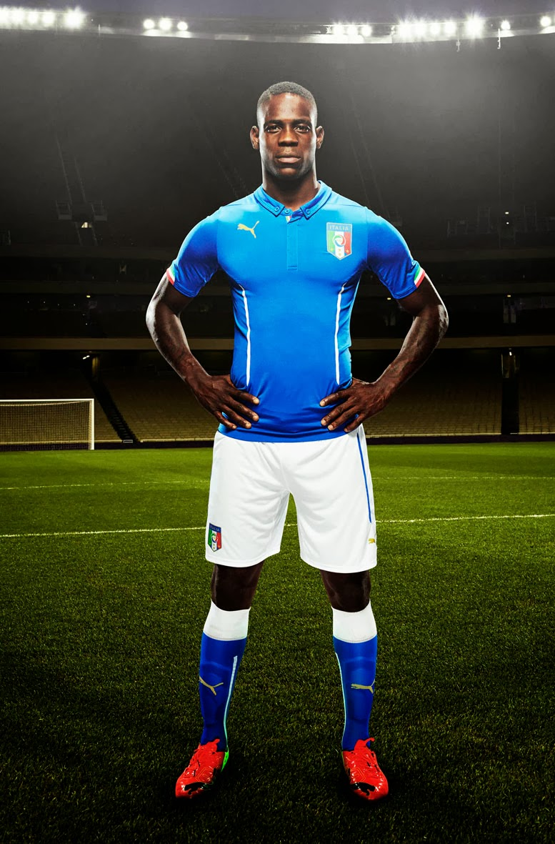 Puma launches italy kits for 2014 fifa world cup diskioff for Italian kit