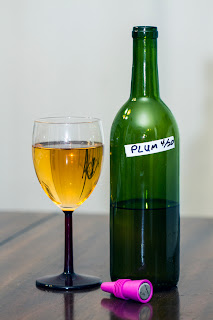 Plum melomel mead honey wine home brew