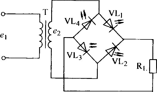 using led as a diode rectifier circuit diagram