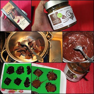 cioccolatini fondenti con ripieno alla gianduia