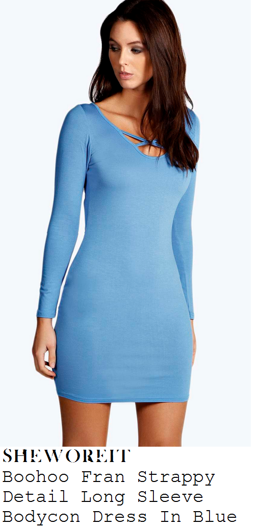 marnie-simpson-bright-blue-long-sleeve-criss-cross-detail-scoop-neck-bodycon-mini-dress