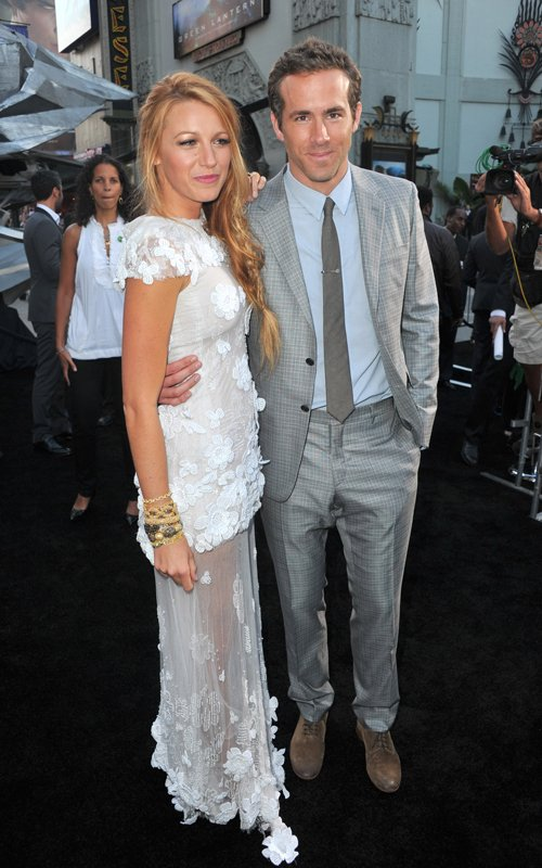 Blake Lively And Ryan Reynolds At The &quot;Green Lantern&quot; Premiere