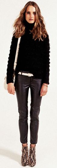 pantalones pitillos cuero