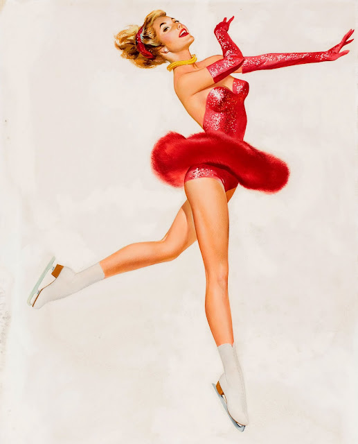 Vintage Pinups - Figure skating