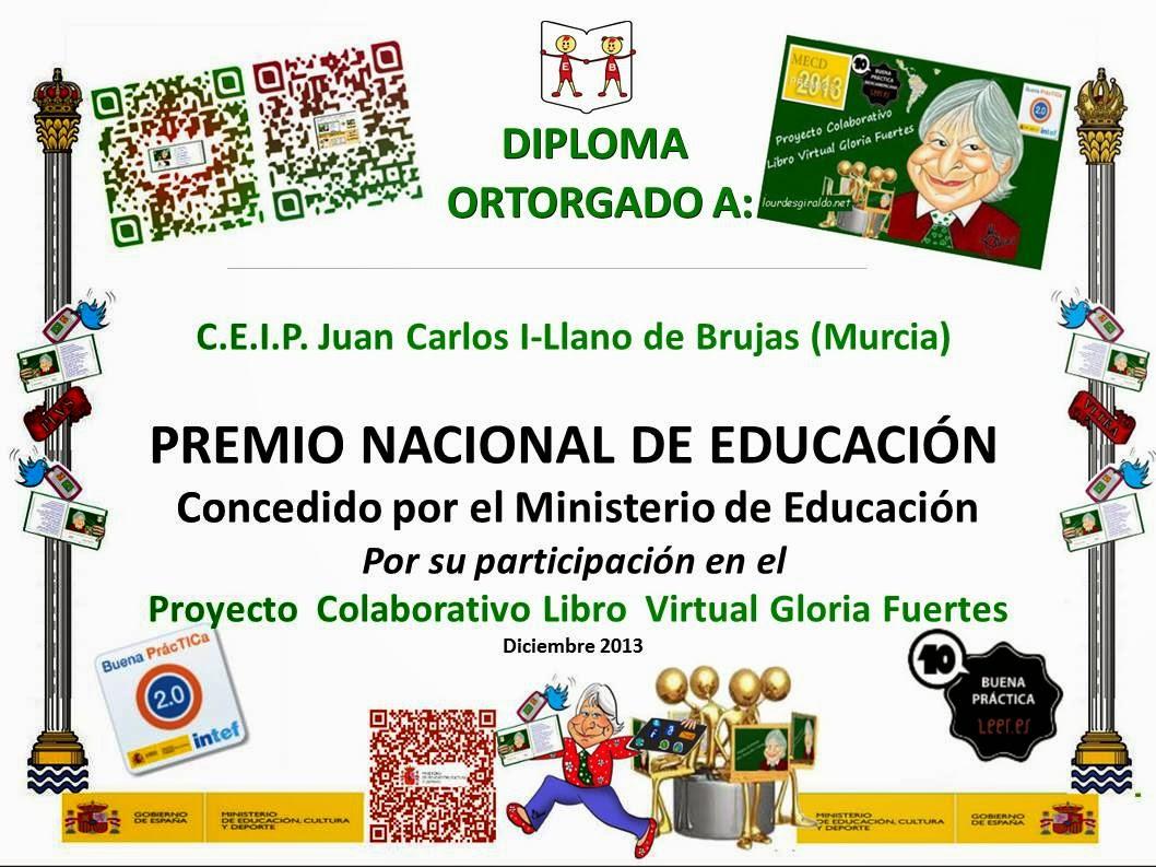 PREMIO NACIONAL DE EDUCACIÓN 2013.