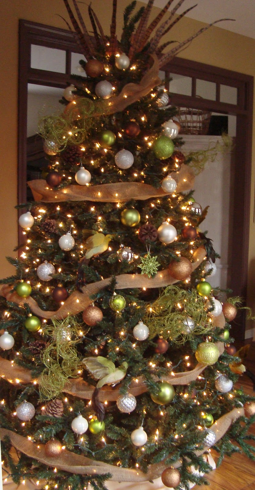 The essence of home my christmas tree Brown and gold christmas tree