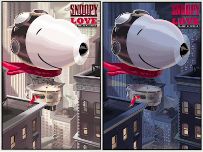 "Peanuts Valentine's Day Prints by Laurent Durieux - ""Snoopy LOVE"" Standard Edition & My Blue Valentine Variant Edition ""Snoopy LOVE"""