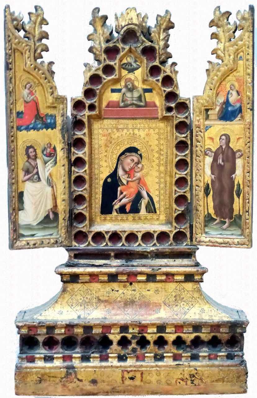 Nossa Senhora, Menino Jesus e Santos. Simone dei Crocefissi (Bolonha c. 1330 - 1399) Museu do Louvre
