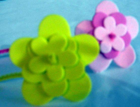 Flores Sencillas En Foami Moldes Imagui