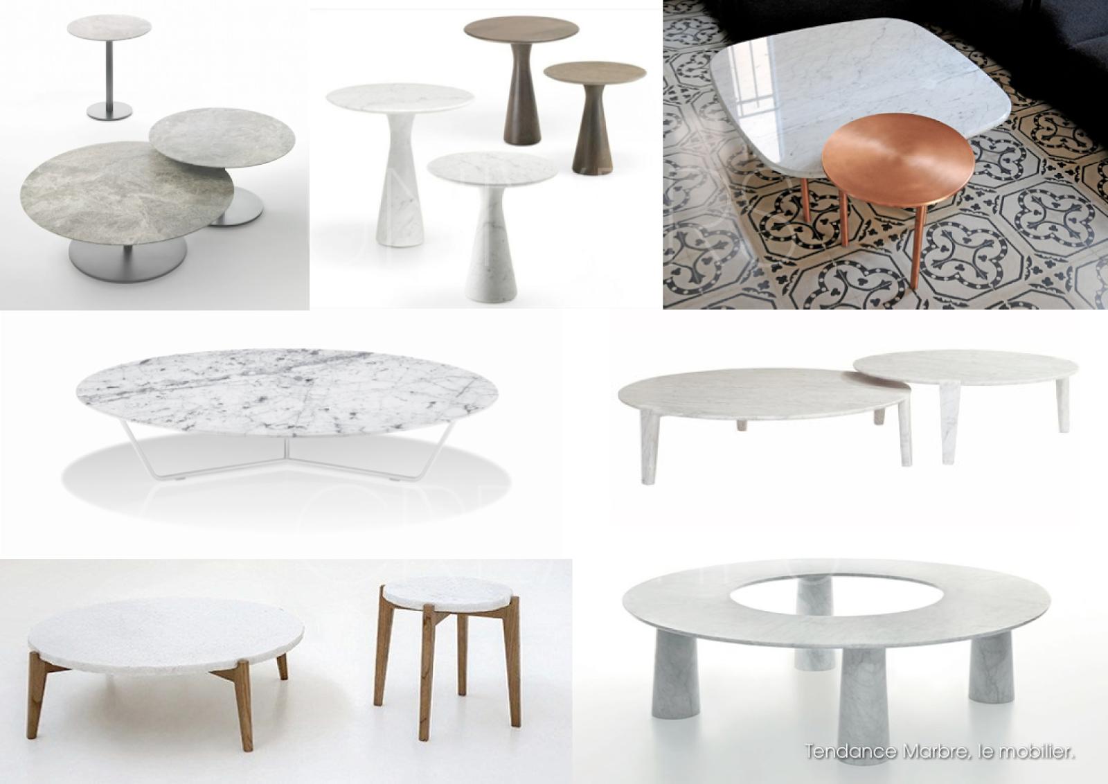 Univers creatifs tendance marbre 2 mobilier les for Table basse marbre design
