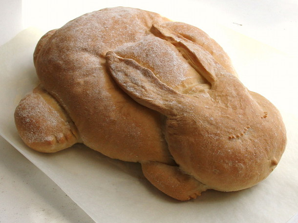 trying to make a bread sculpture like my bunny bread