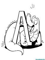 Belajar Mengenal Hurup A Alligator