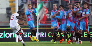 Video Gol Catania vs AC Milan 1 Desember 2013