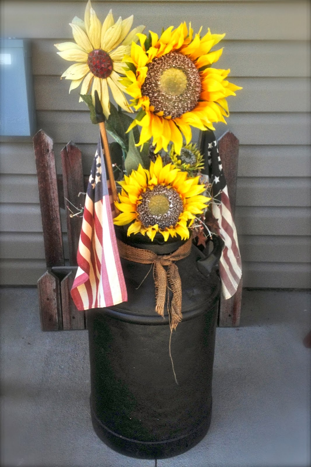 Diy why spend more decorating milk cans for Old milk can decorating ideas