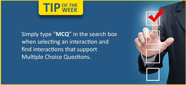 Tip of the Week: Want to include Multiple Choice Questions in your course?