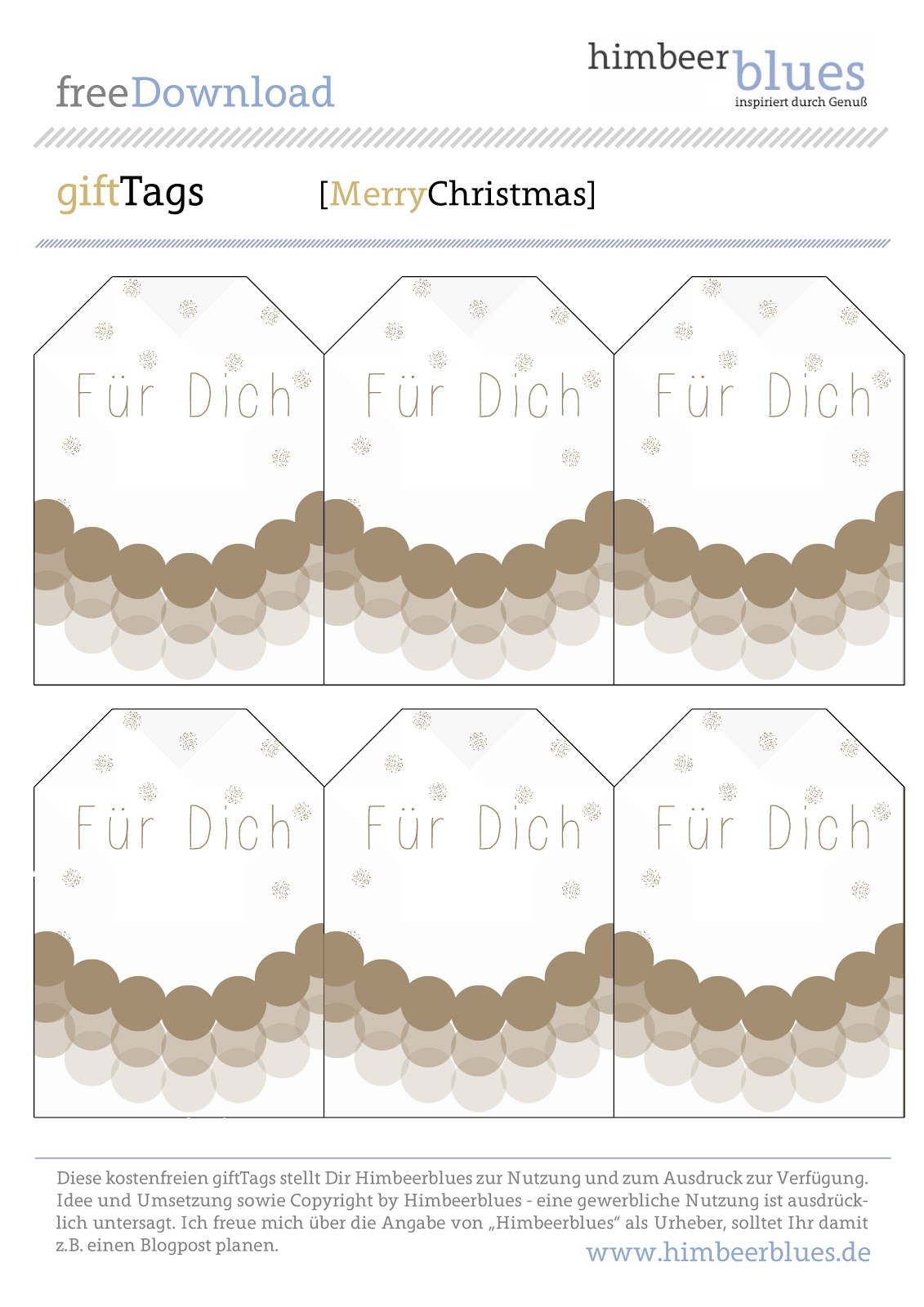 Zum Download der free Printables Christmas Gift-Tags hier klicken.