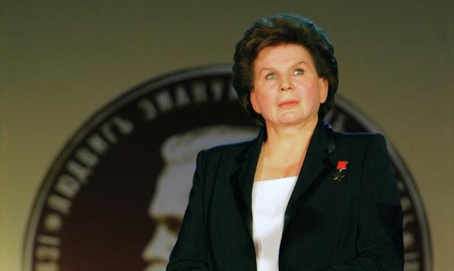 Bà Valentina Tereshkova ở tuổi 76 và sẵn sàng tham gia sứ mệnh đến Sao Hỏa. Credit : RIA Novosti.
