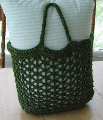 Crochet Pattern Central Bags : BAG CROCHETED MESH PATTERN TOTE FREE PATTERNS