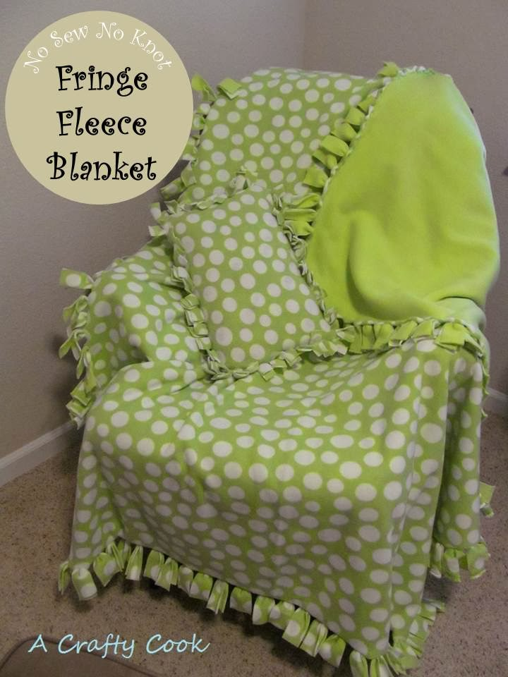 A Crafty Cook No Sew No Knot Fringe Fleece Blanket And Pillow Cover Delectable Sewless Pillow Cover