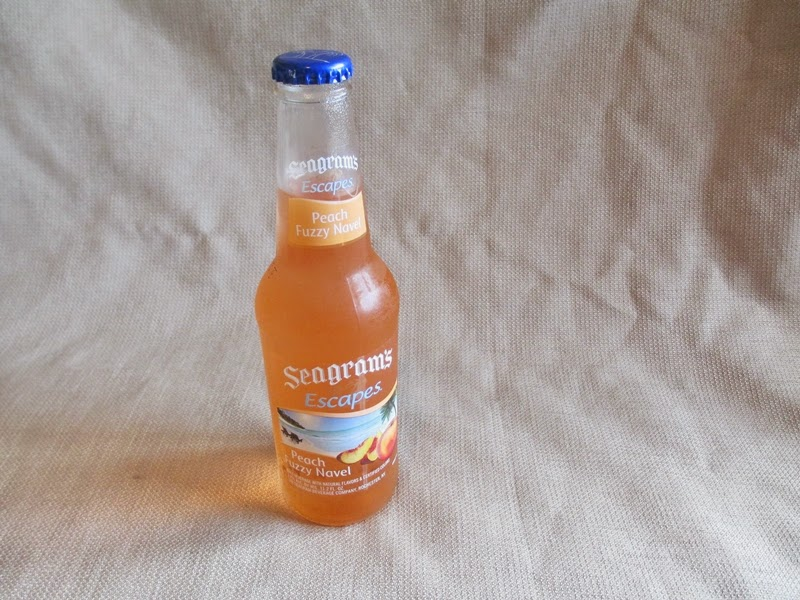 Bottle of Seagram's Escapes Fuzzy Peach Navel Flavored Malt Beverage