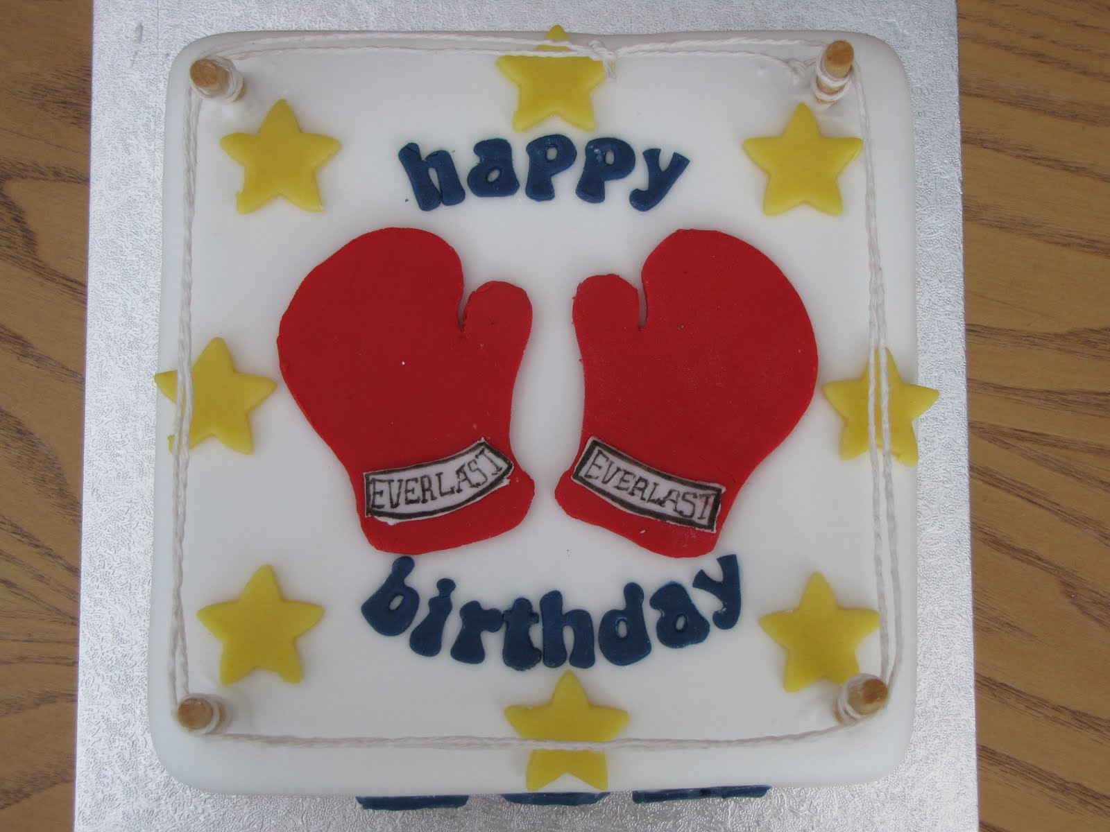 Instructions Making A Boxing Gloves Cake