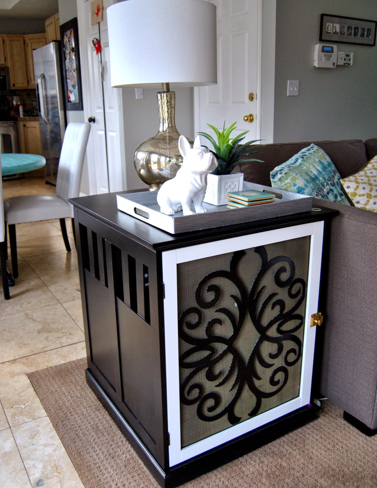 Studio 7 Interior Design DIY Dog Crate End Table