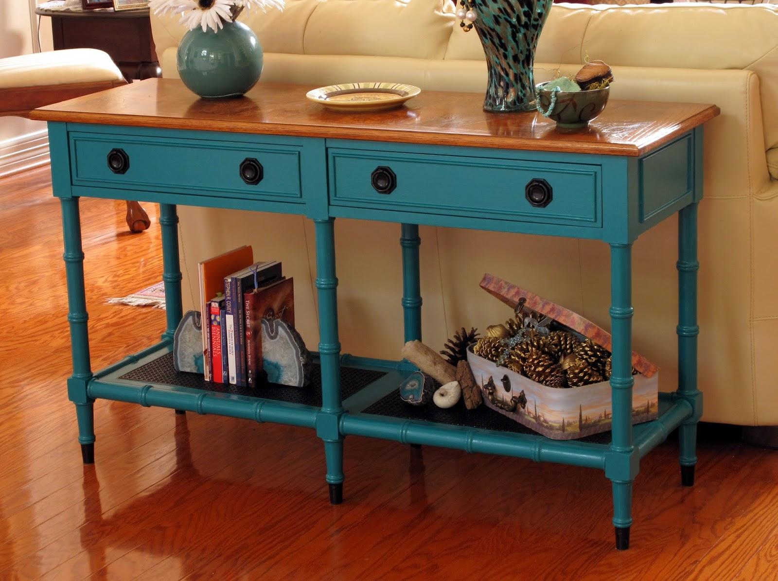 Blue Sofa Table - Table Design Ideas