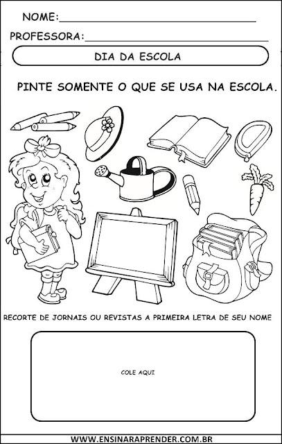 DIA DA ESCOLA - ATIVIDADES
