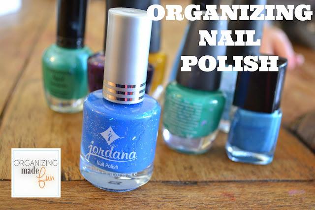ORGANIZING NAIL POLISH :: OrganizingMadeFun.com