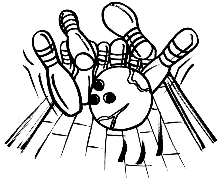 bowling pin coloring pages - photo#4
