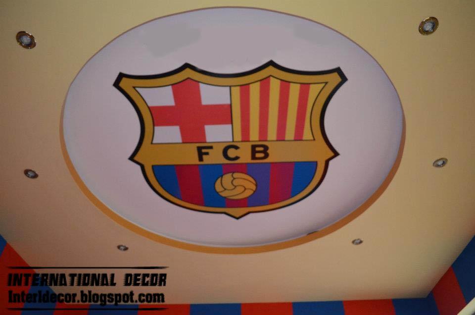 FCB kids room gypsum ceiling - Barcelona plaster ceiling style