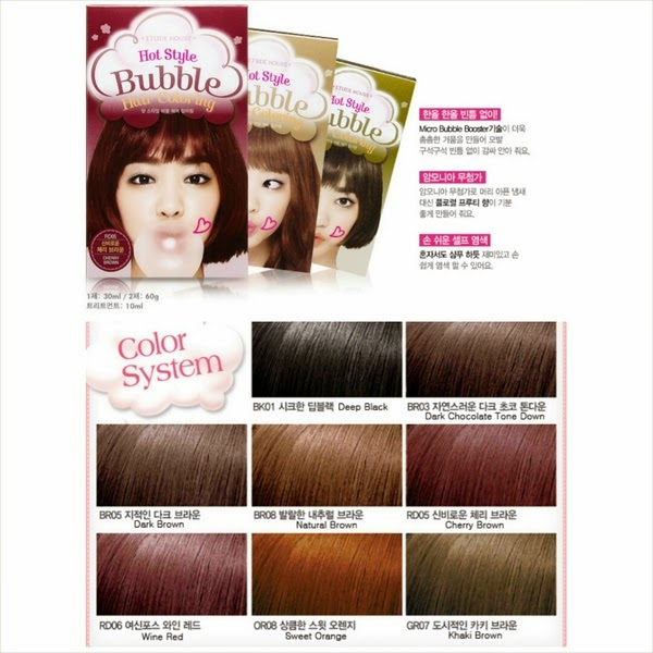 fangirl series: Etude House ~ Hot Style Bubble Hair Coloring Natural ...