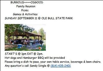 9-11 Burrous---Osgood Family Reunion