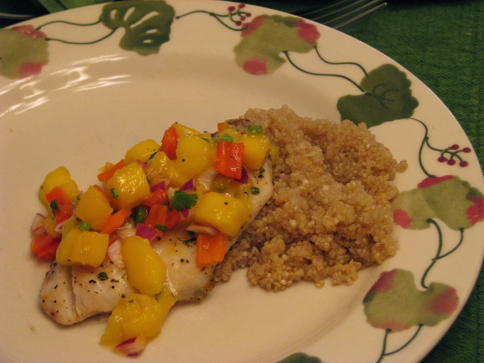 TheFultonGirls: Grilled Tilapia with Mango Salsa