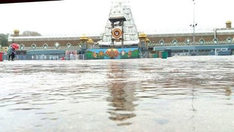 On the plus side, the unseasonal rains have brought down the long wait to enter the temple from 14 to just two hours, reports Mumbai Mirror.  The Tirumala temple usually gets 70,000 pilgrims a day a this time pf the year. But now due to wet weather their number falling drastically, those at the temple are able to make their  offerings without being rushed.
