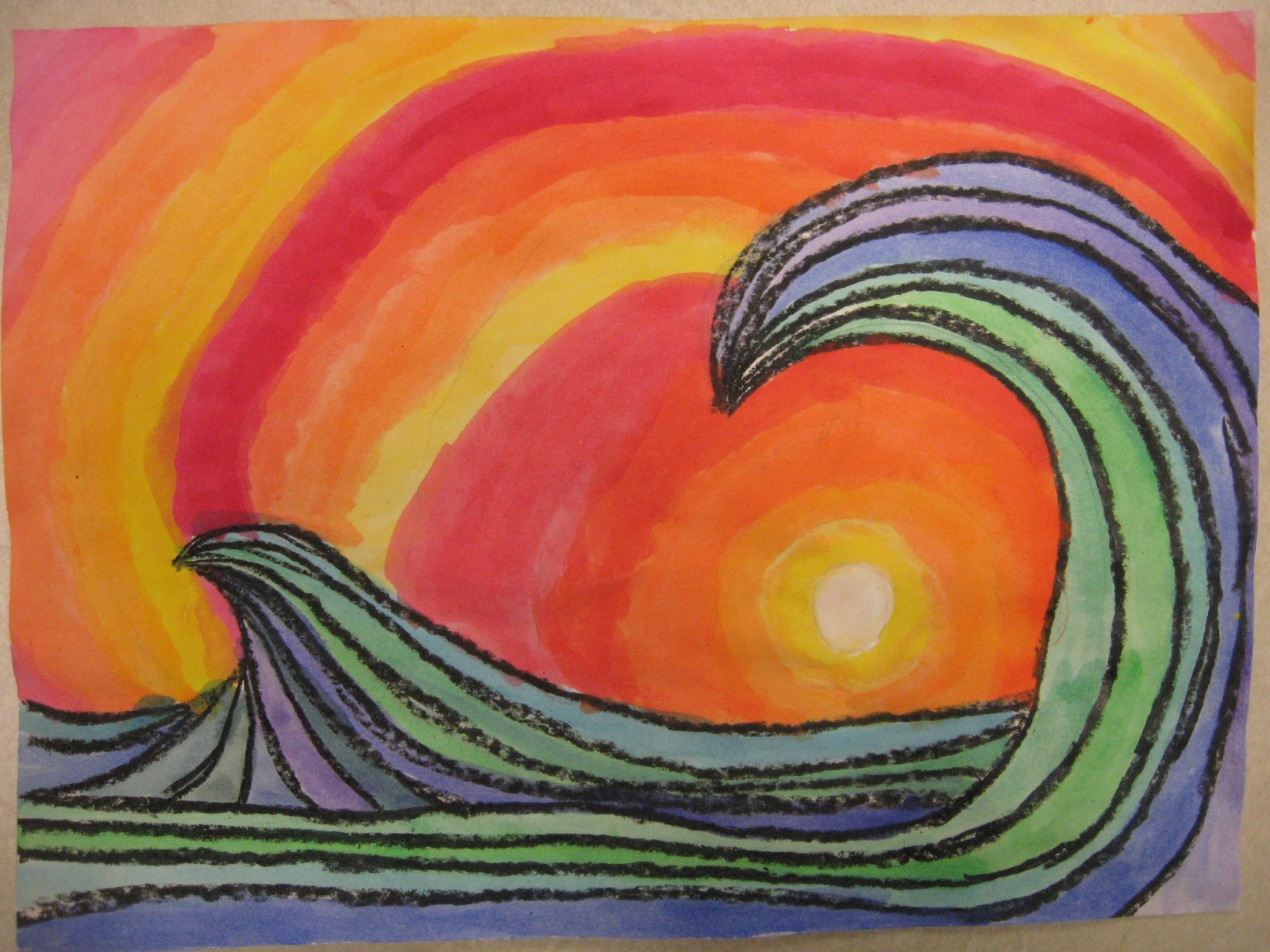 Miss Young\'s Art Room: Warm and Cool Colors with 6th Grade