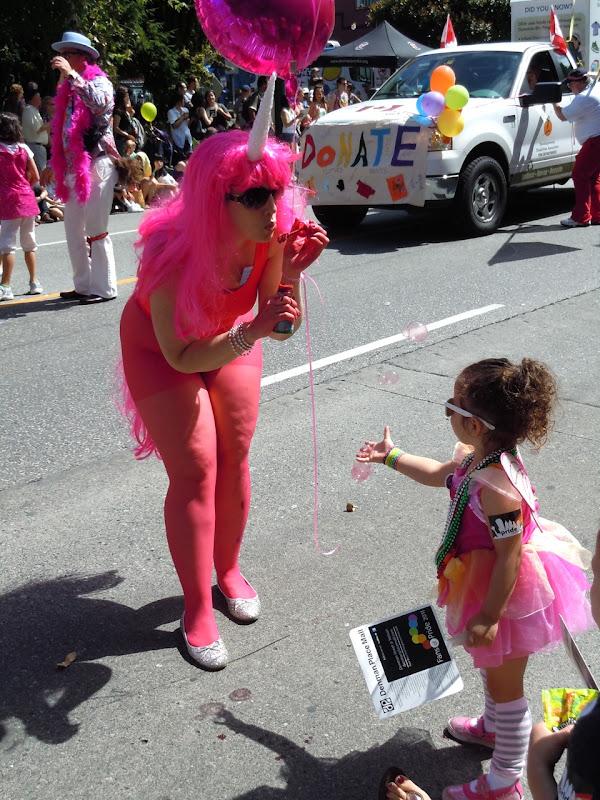 Unicorn bubbles Vancouver Pride Parade