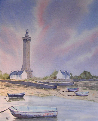 aquarelle-le-phare-d'Eckmuhl