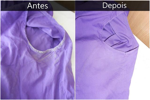 como remover mancha de desodorante