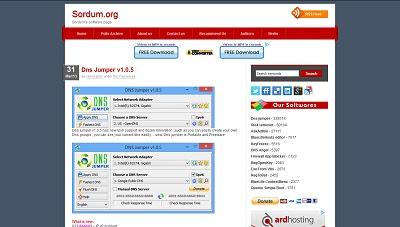 DNS Jumper, Network Tool