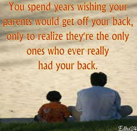 parents have your back inspirational quote my note book