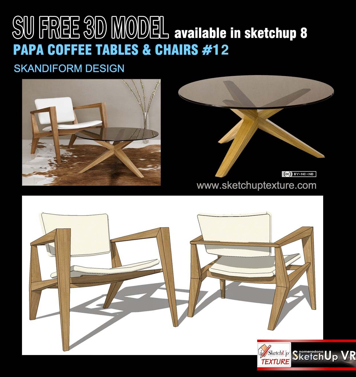 Sketchup texture free sketchup 3d model easy chair for Table design sketchup