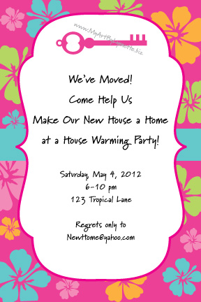 housewarming open house invitation wording